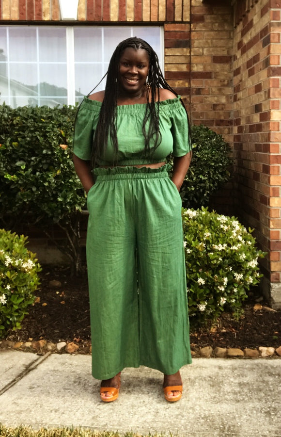 Gigi Green 2 Piece Set