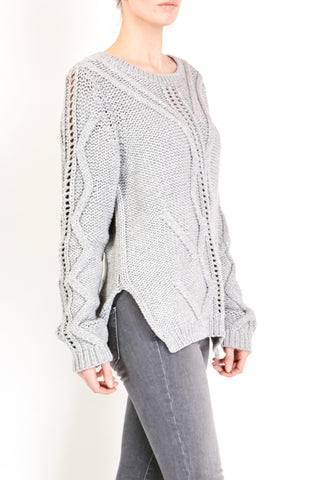 Fine Collection Cable Sweater