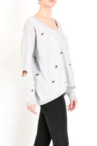 Long Sleeve Destructed Sweater