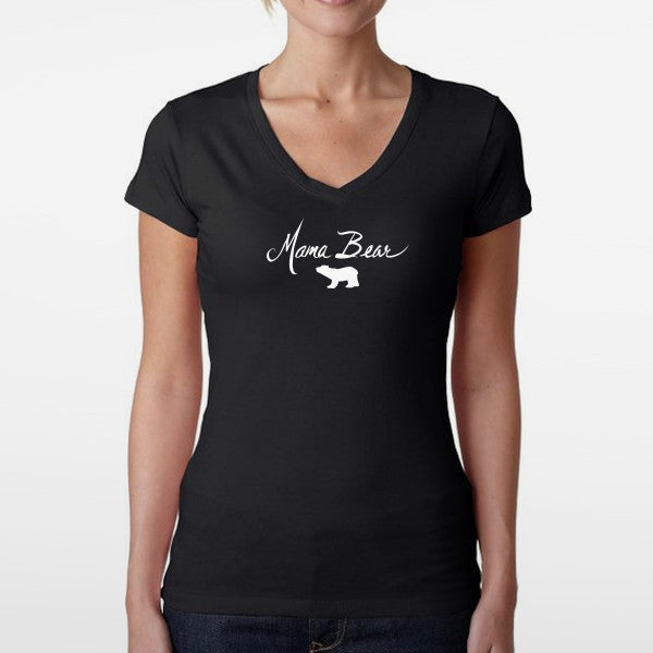 Women's Mama Bear Sporty V T-Shirt
