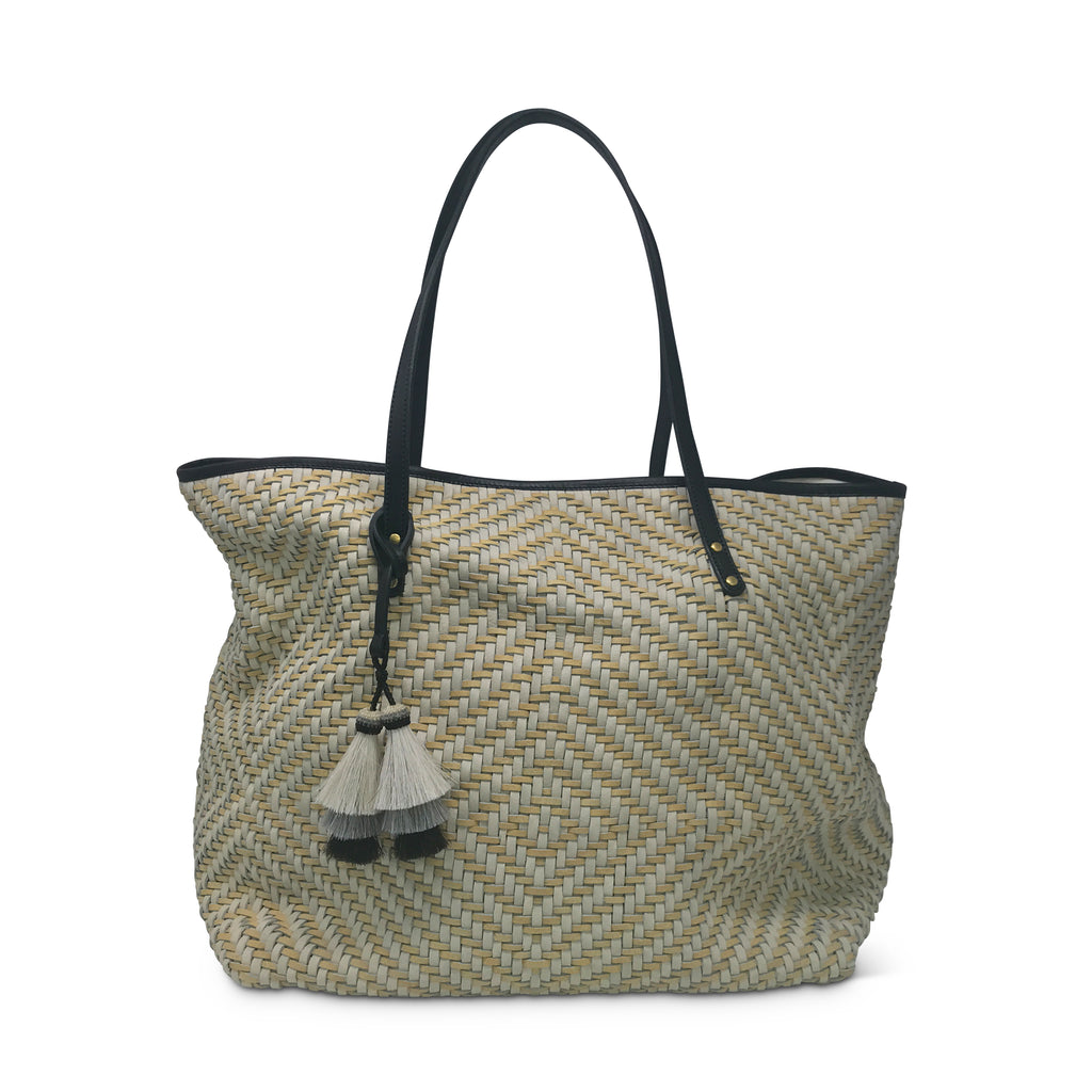 Tresco Large Tote - Chalk & Butter