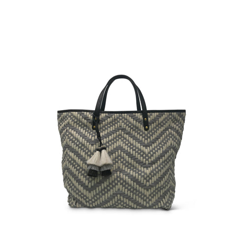 Marlborough Cosmetic Case - Grey Shearling and Camo Suede