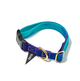 EGG BLUE TO VIOLET COTTON CAT & DOG COLLAR designed by FOUND MY ANIMAL