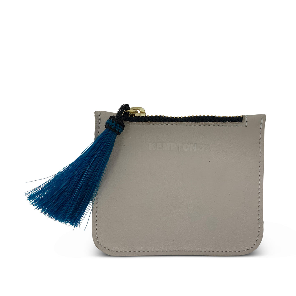 Chalk tiny pouch with tassel