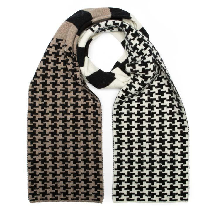 Scarf- Houndstooth Mono Mix