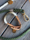 Rope Dog Leash designed by FOUND MY ANIMAL - Olive Ombre