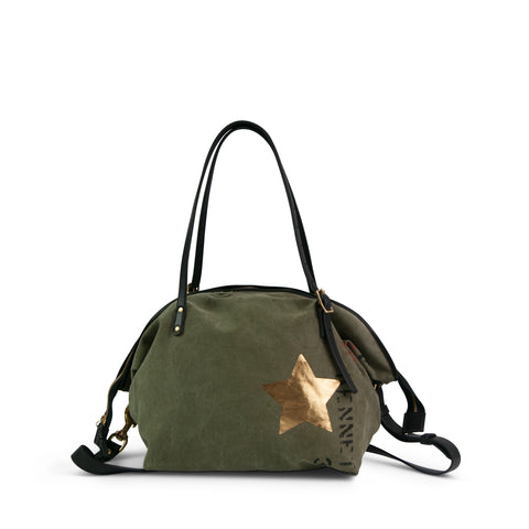 Army Gold Stripe Crossbody - Small