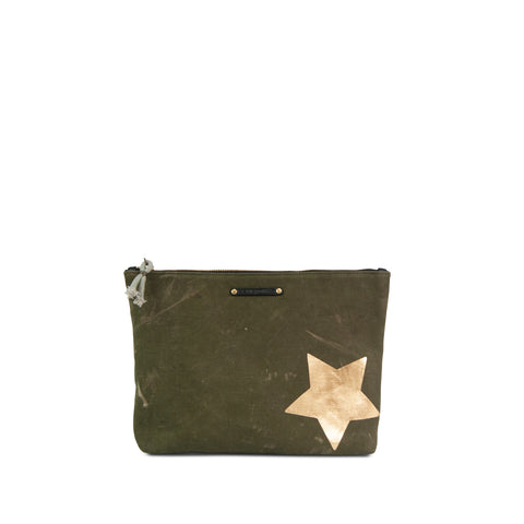 Army Gold Stripe Crossbody - Large