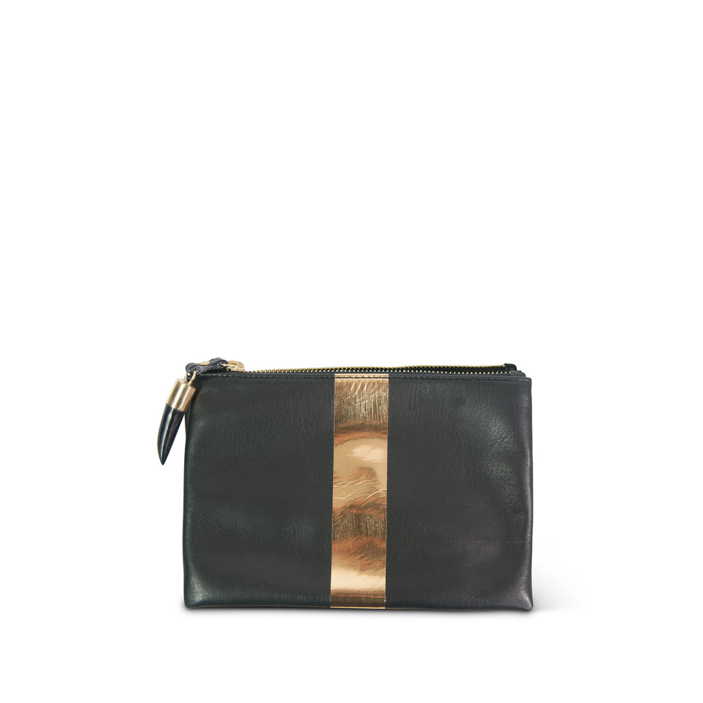 Black and Gold Small Pouch