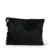 Black Pony Medium Clutch