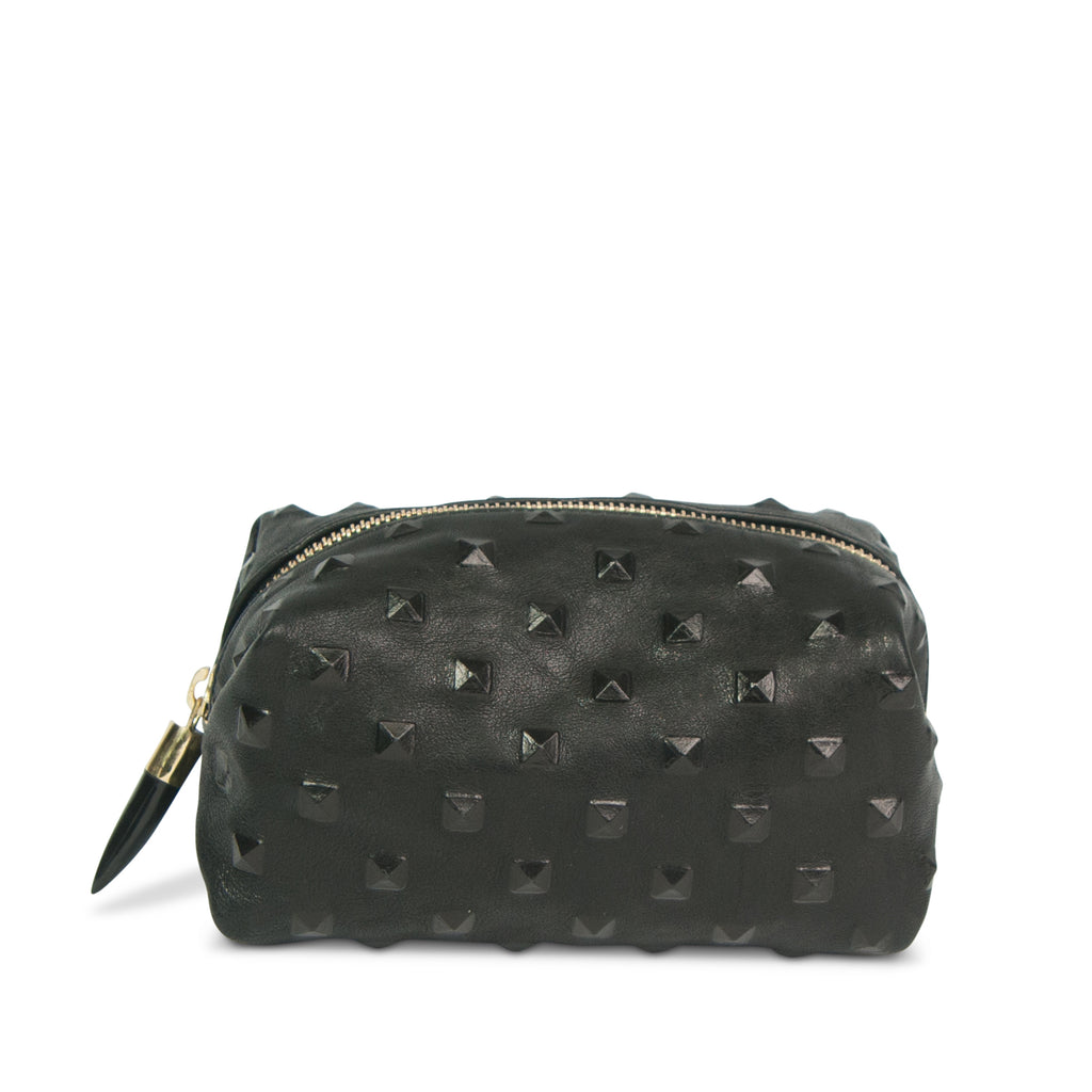 Black Studded Cosmetic Case