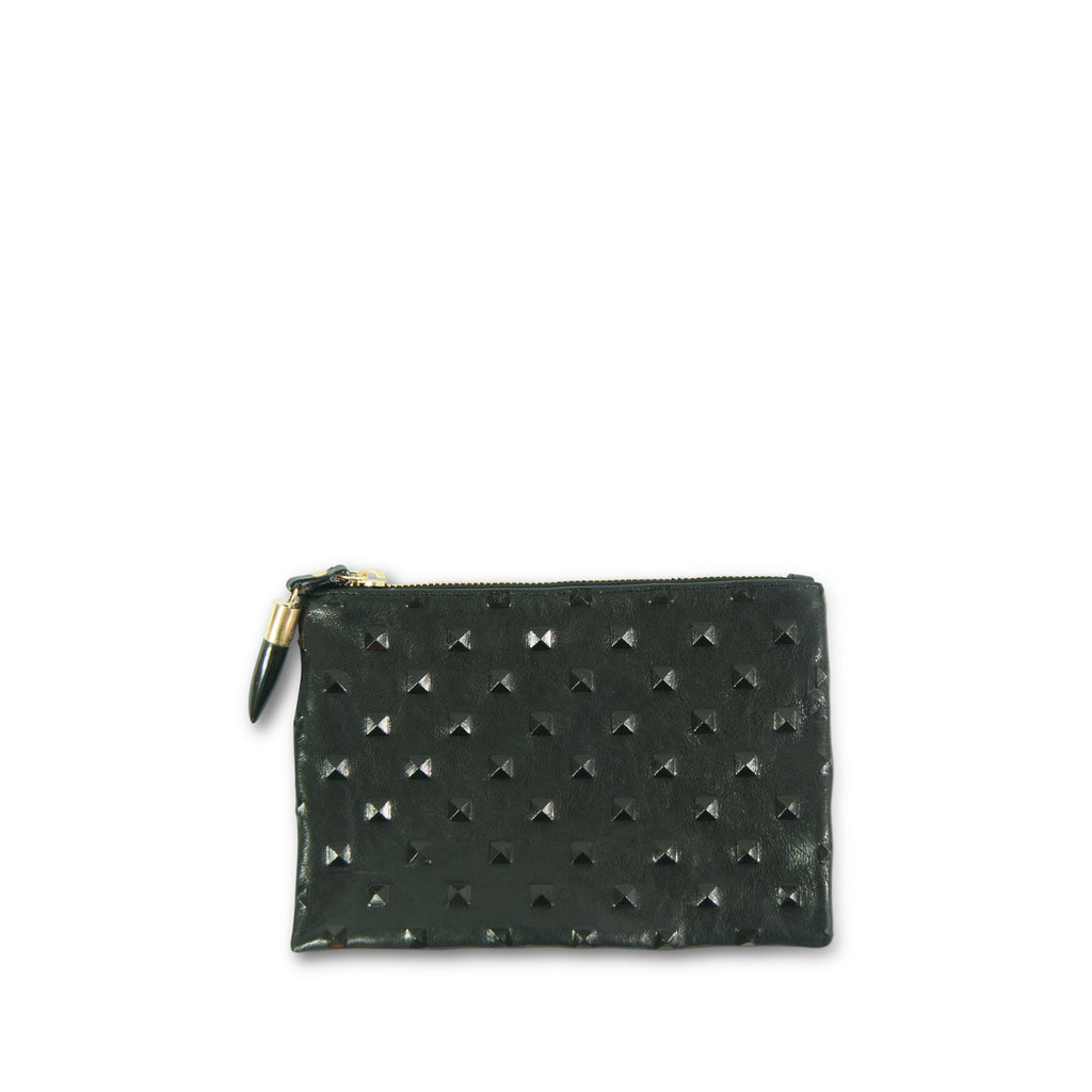 Black Studded Small Pouch
