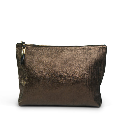 Kempton & Co. Mini Pouch Metallic Cobra Bronze