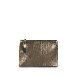 Bronze Metallic Rain Small Pouch