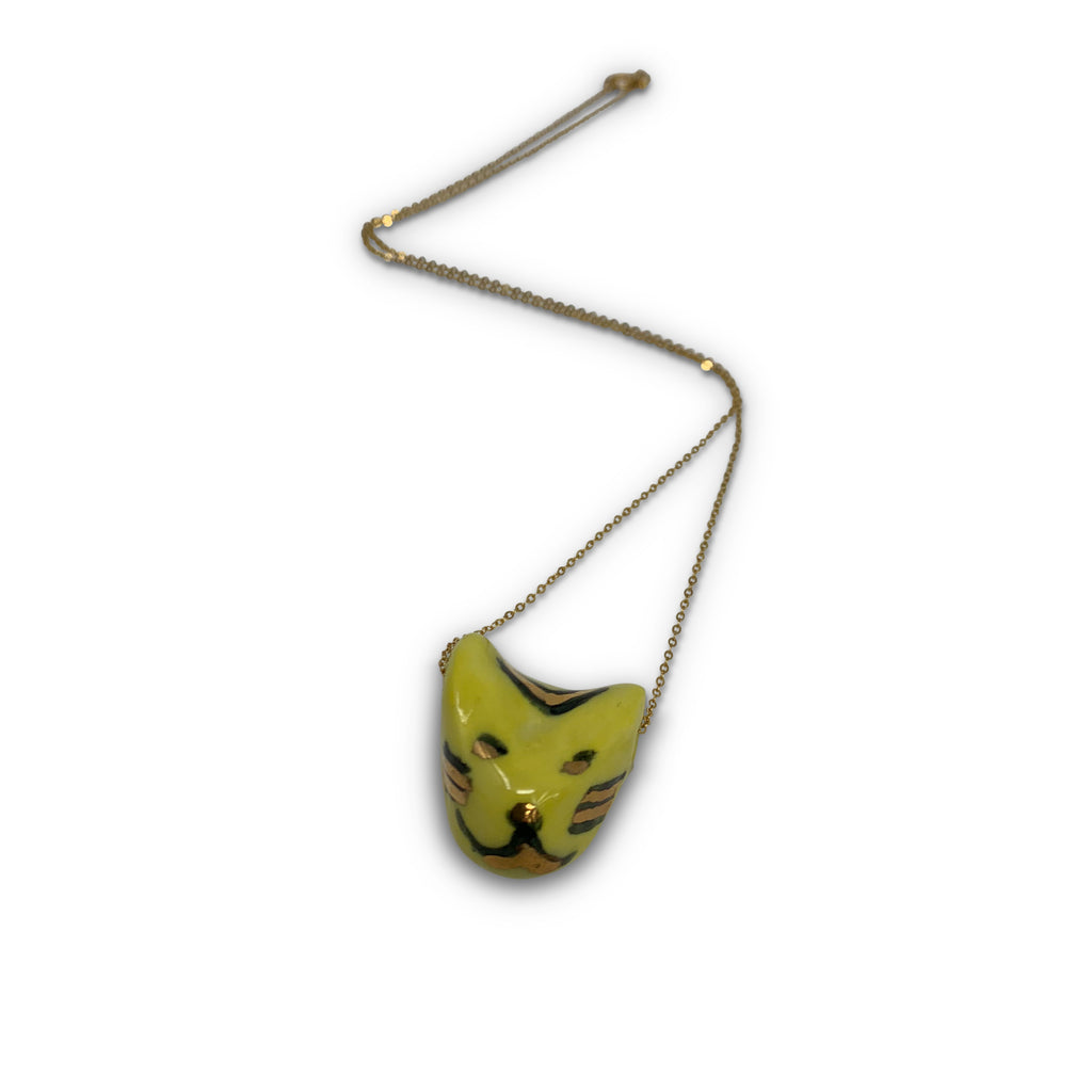 Tiger necklace – ceramic large