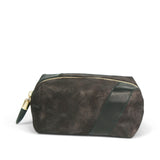 Distressed Brown Cosmetic Case