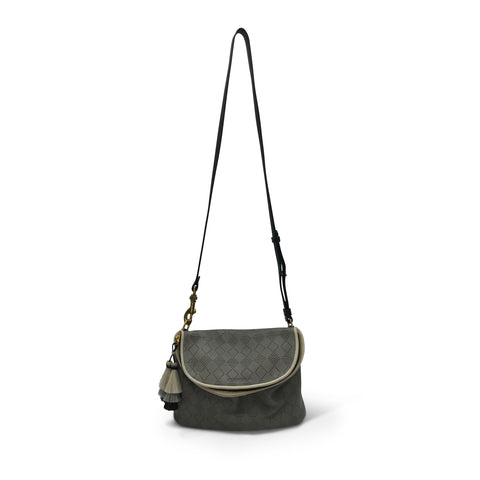 Nottingham Double Zip Crossbody - Navy Suede Gold Foil Stars
