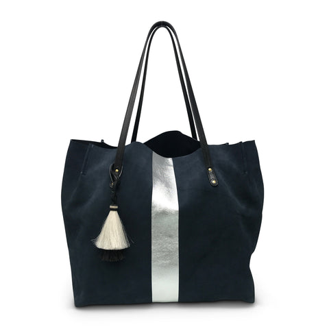 Silver Stripe Urban Beach Tote