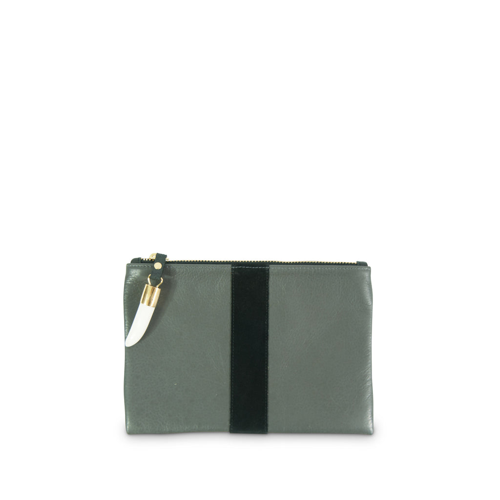 Granite and Black Small Pouch