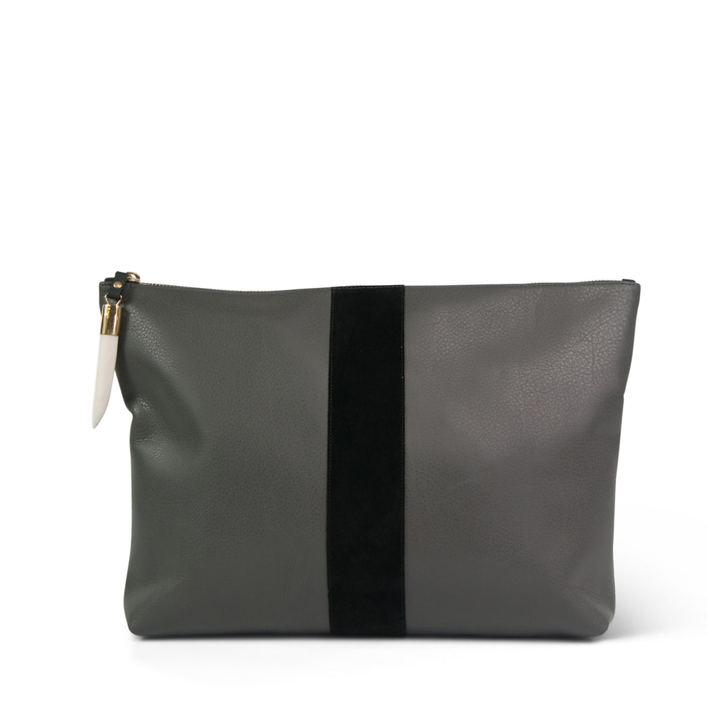Granite and Black Clutch