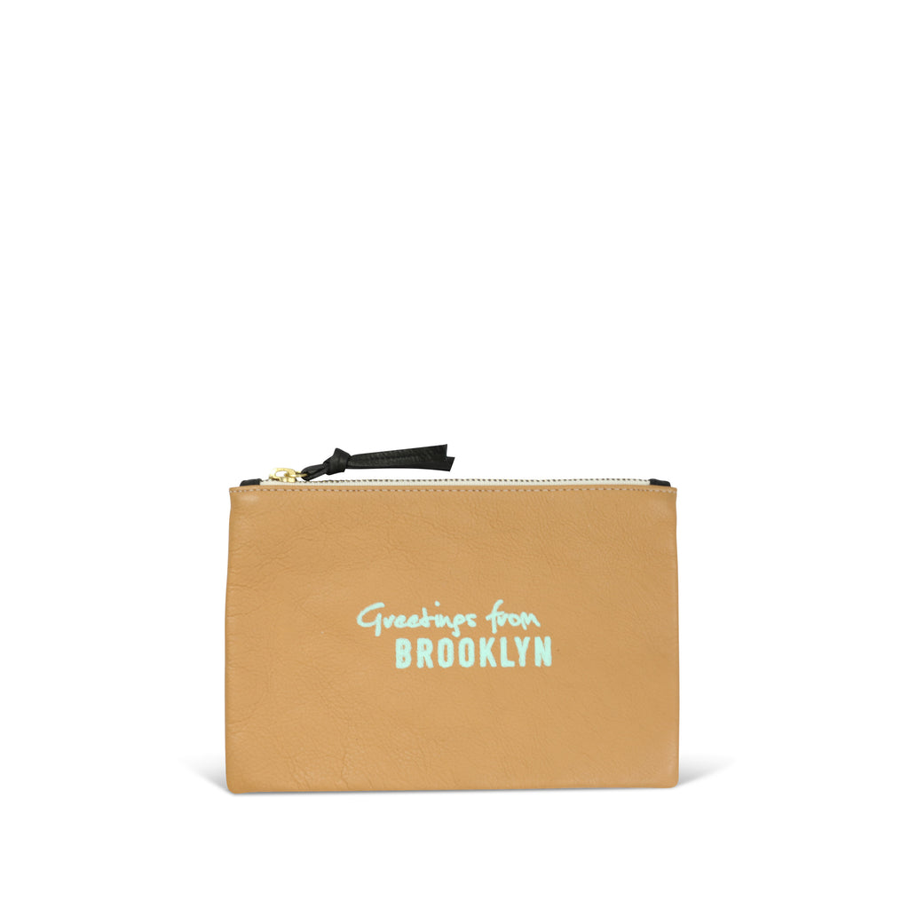 """Greetings From Brooklyn"" Small Pouch"