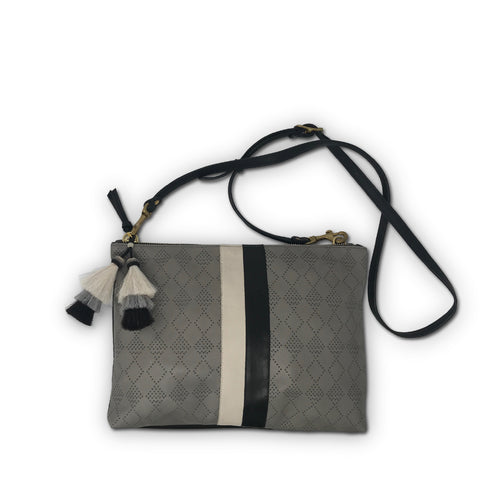 Postal Silver Stripe Crossbody