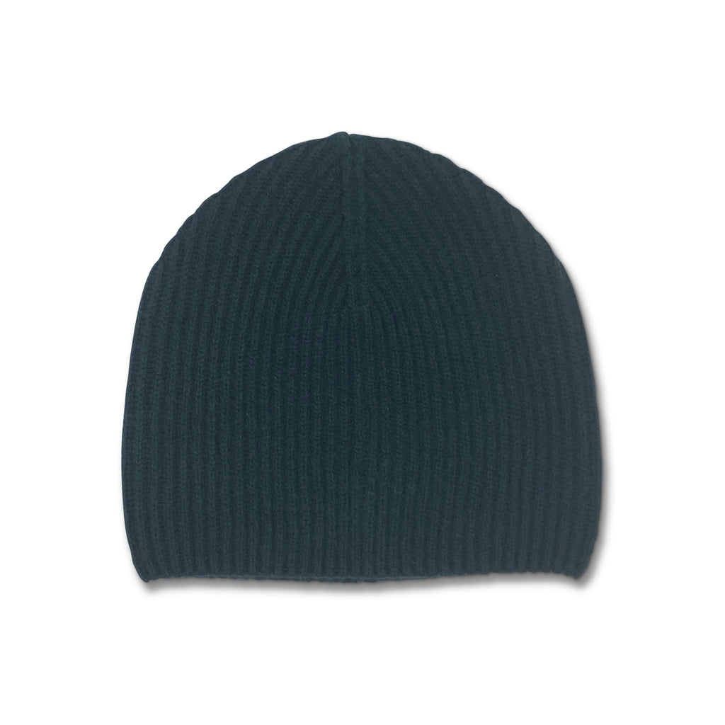 Cashmere Ribbed Beanie Hat - Bottle