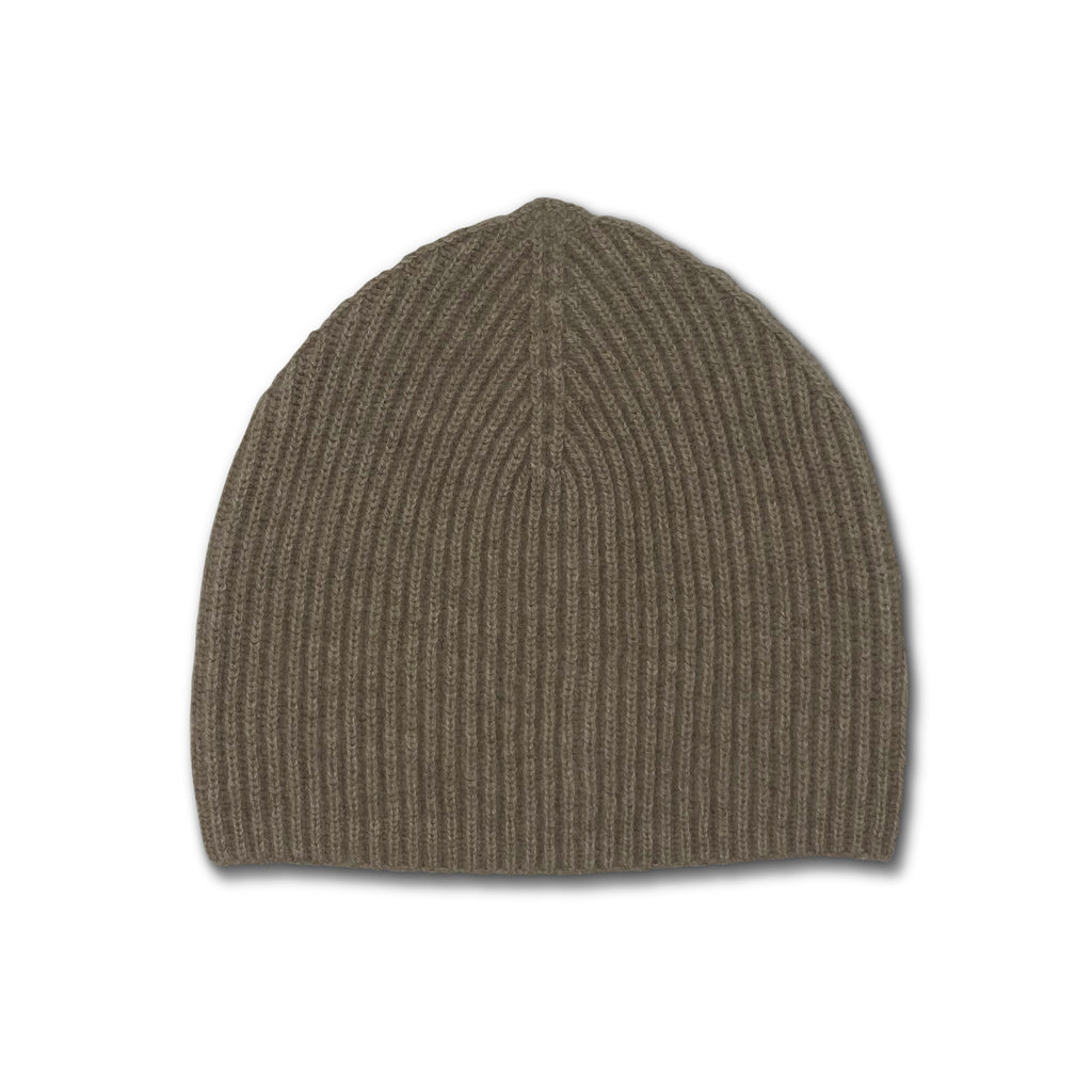 Jumper Ribbed Beanie Hat - Light Brown