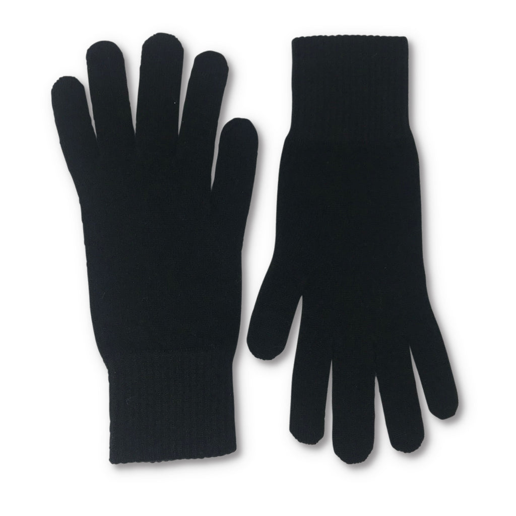 Black Cashmere Short Gloves