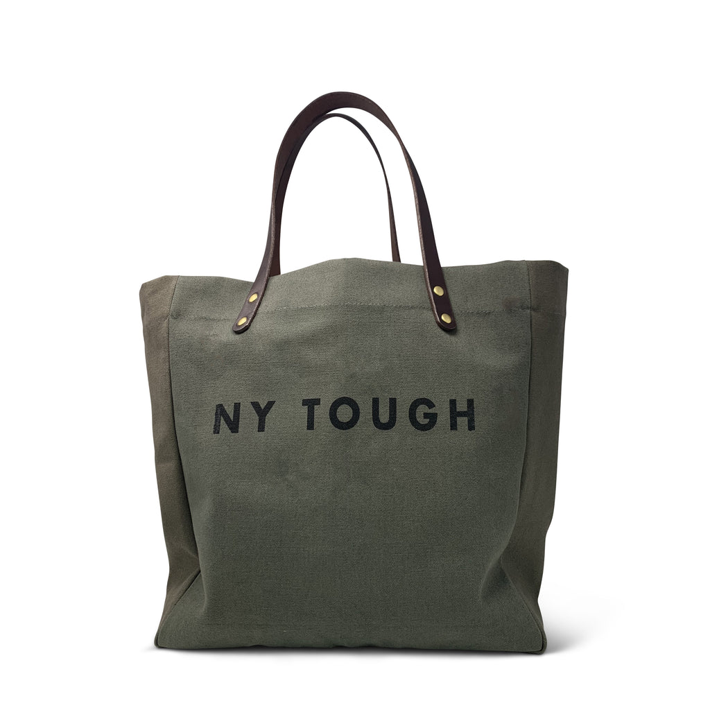 NY Tough Olive Canvas Tote