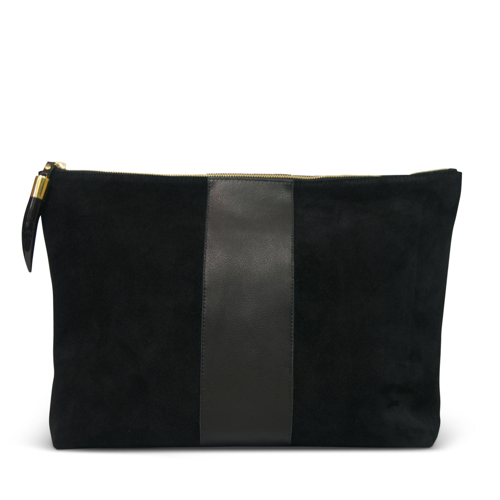 Royal Frolic Clutch - Black Suede