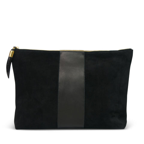 Shimmer Oversized Clutch - Canvas and Leather