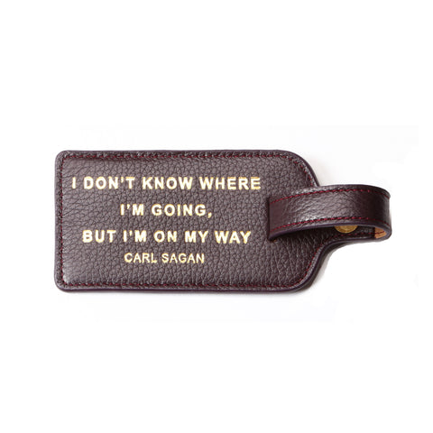 Leather Luggage tag - Susan Sontag quote