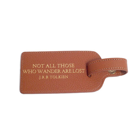 Leather Luggage Tag – Oh The Places You'll Go