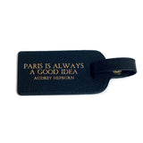 Leather Luggage Tag - Audrey Hepburn quote