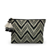 Woven Black and White Medium Pouch