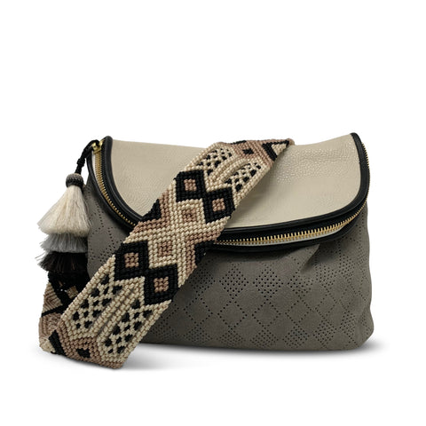 Blush, Grey and Black Bag Strap