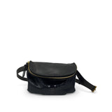 Black Snake Skin Furtivo Belt Bag