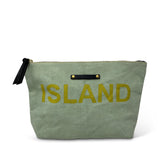Island Hand Painted Canvas Pouch
