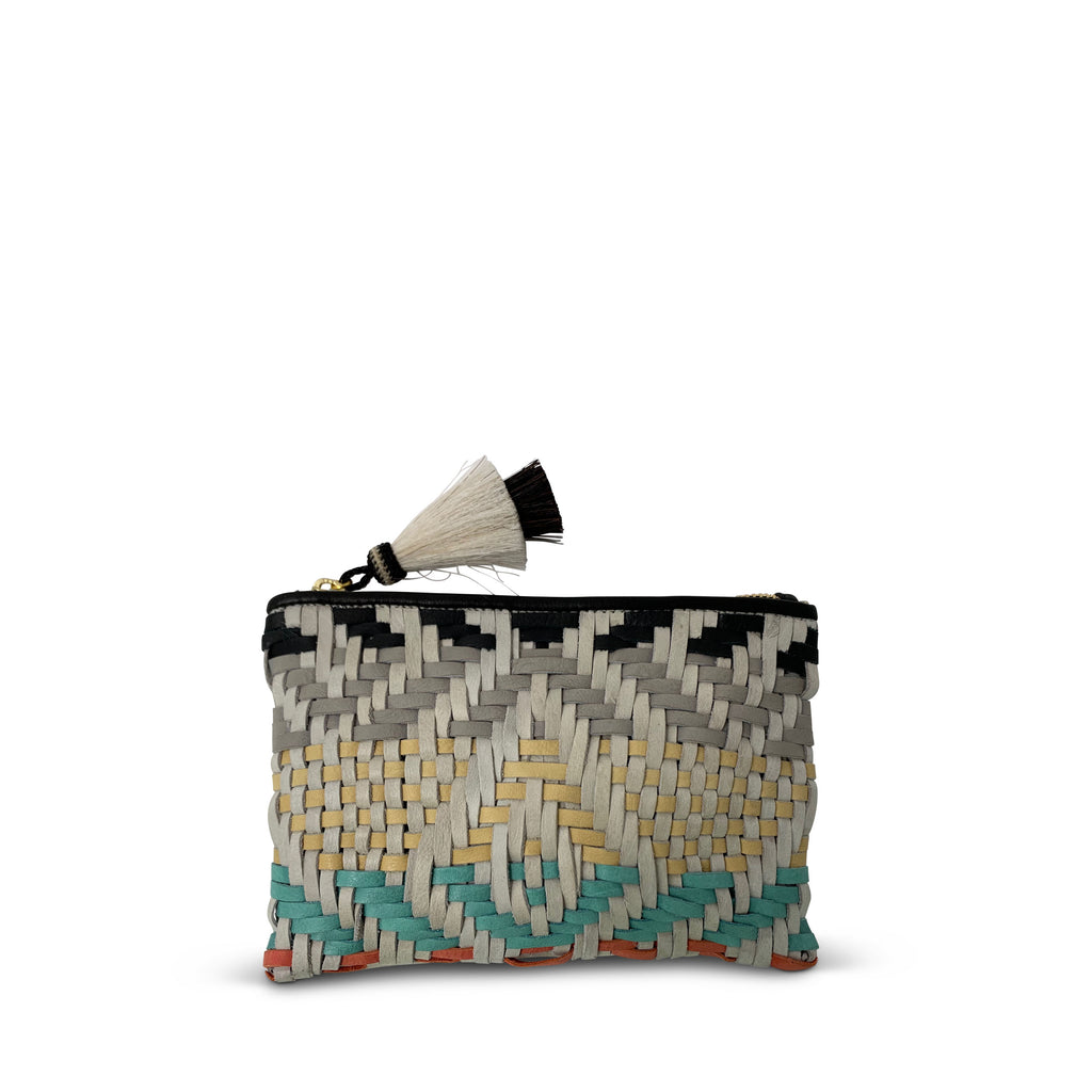 Multi Color Woven Small Pouch