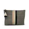 Perforated Storm Suede Tri Color Medium Pouch