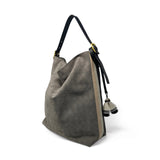 Perforated Storm Suede Hobo