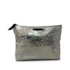 Silver Splatter Canvas Pouch
