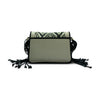 Woven Black and White Eva Shoulder Bag