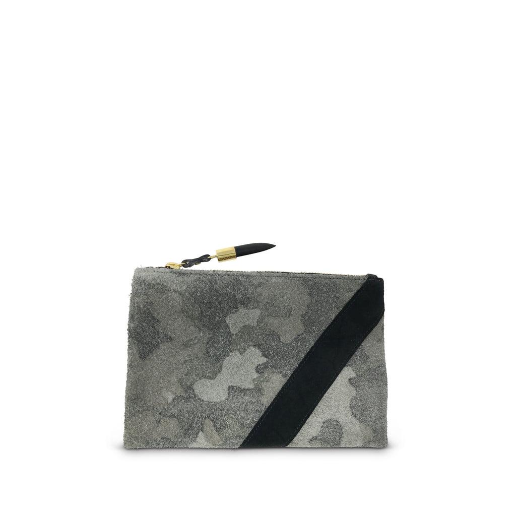 Camo Suede Small Pouch