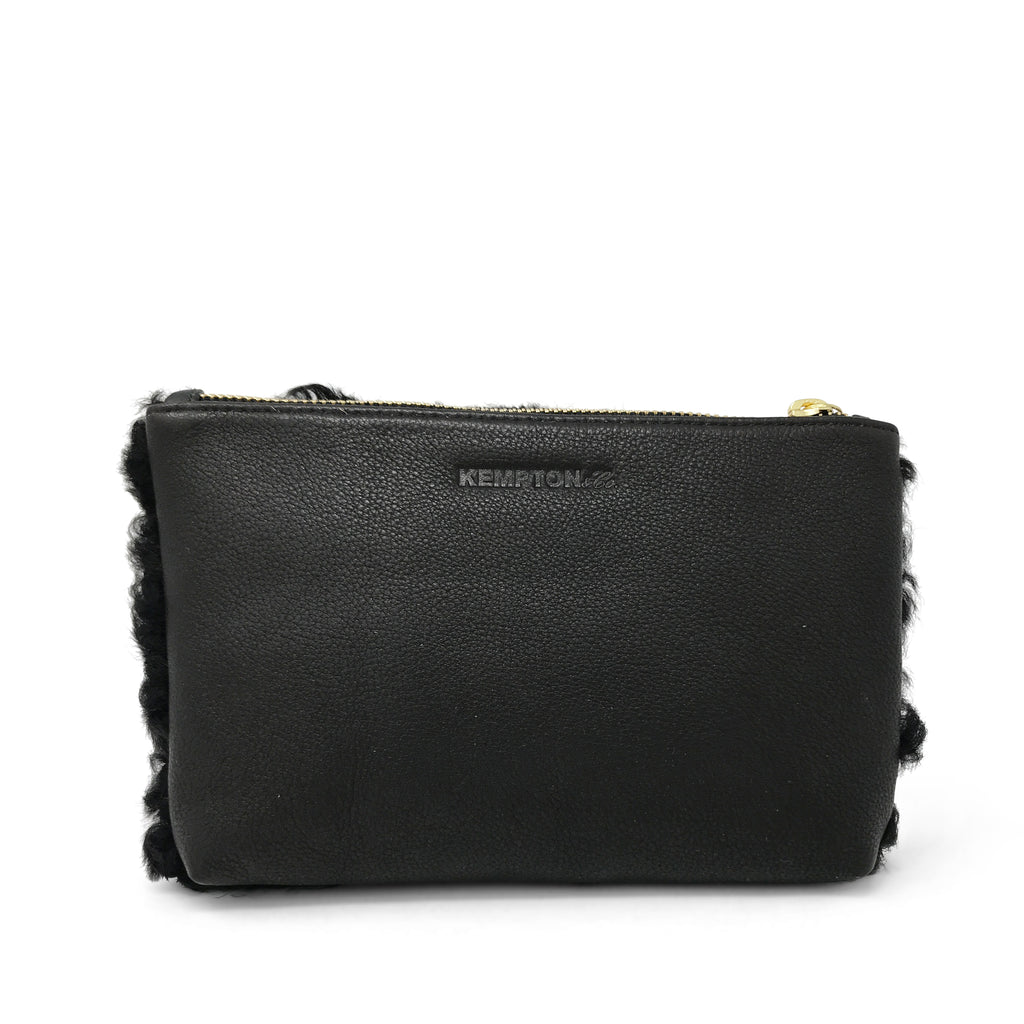 Marlborough Cosmetic Case - Chocolate Shearling