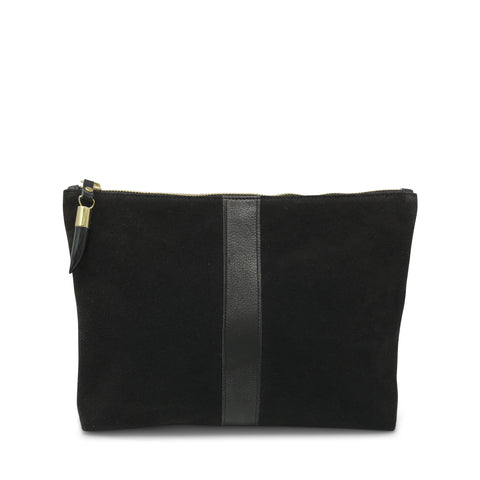 Storm Suede/Black Stripe Cosmetic Case
