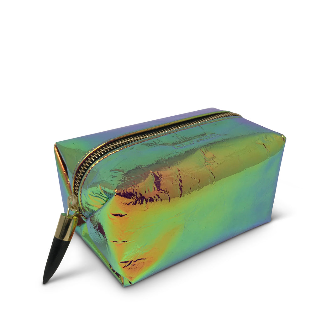 Iridescent Leather Cosmetic Case