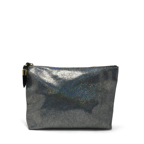 Metallic Rain Gold Medium Pouch