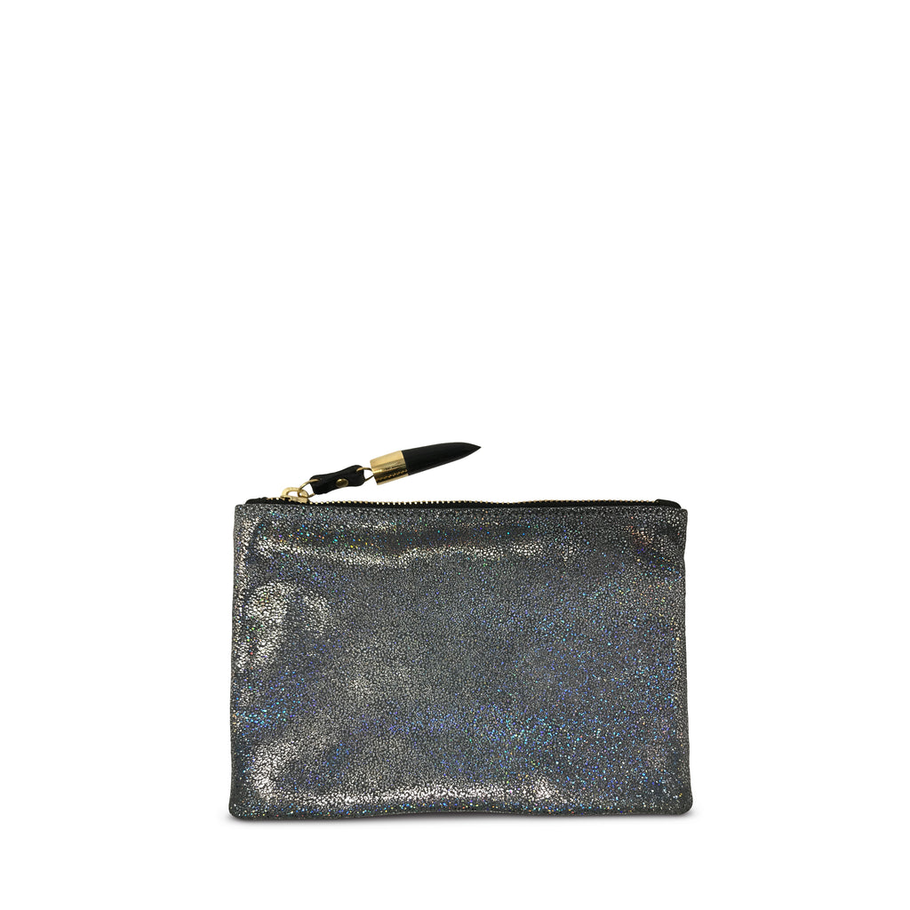Iridescent Splatter Leather Small Pouch